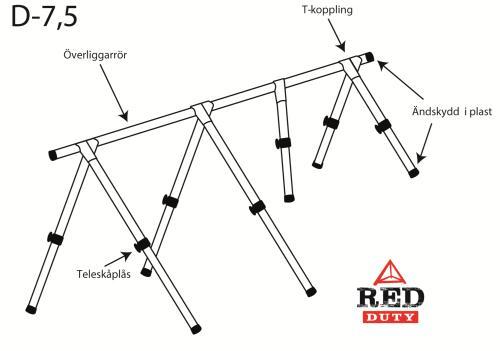 DÄCKSTÄLLNING RED DUTY 7,5M